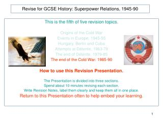 Revise for GCSE History: Superpower Relations, 1945-90