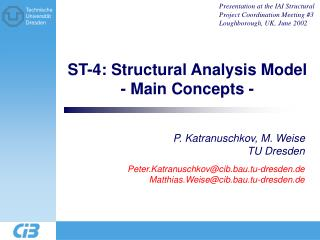 ST-4: Structural Analysis Model - Main Concepts -
