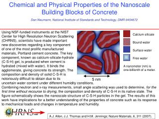 Chemical and Physical Properties of the Nanoscale Building Blocks of Concrete