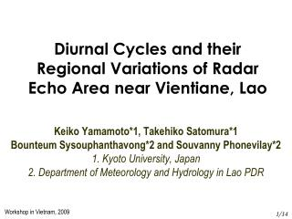 Diurnal Cycles and their Regional Variations of Radar Echo Area near Vientiane, Lao