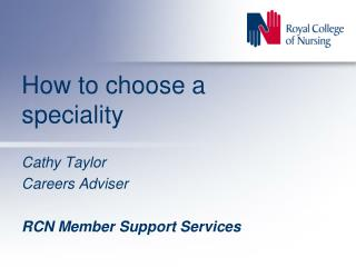 How to choose a speciality