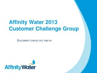Affinity Water 2013 Customer Challenge Group