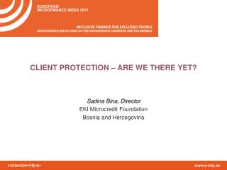 CLIENT PROTECTION – ARE WE THERE YET?