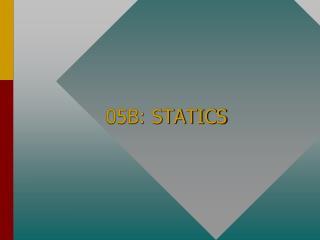 05B: STATICS