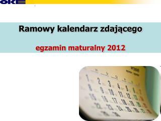 Ramowy kalendarz zdającego egzamin maturalny 2012