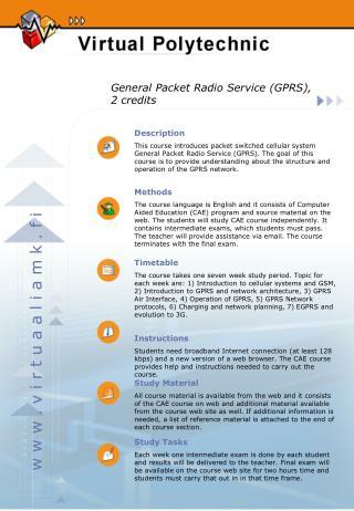 General Packet Radio Service (GPRS), 2 credits