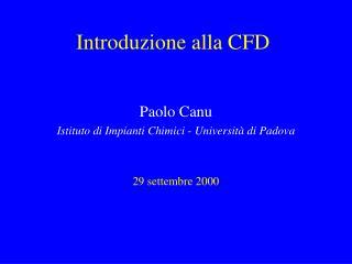 Introduzione alla CFD