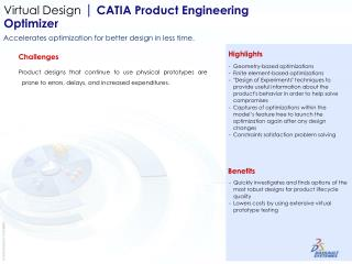 Virtual Design  | CATIA Product Engineering  Optimizer