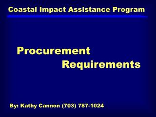 Coastal Impact Assistance Program