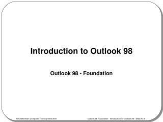 Introduction to Outlook 98