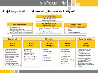 """Projektorganisation und -module """"Stadtwerke Stuttgart"""""""