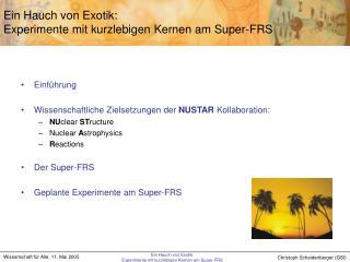 Ein Hauch von Exotik: Experimente mit kurzlebigen Kernen am Super-FRS