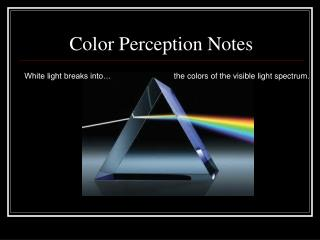 Color Perception Notes