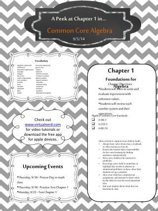 Common Core Algebra