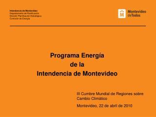 Programa Energ�a de la  Intendencia de Montevideo