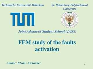 FEM study of the faults activation