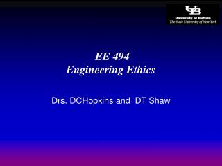 EE 494  Engineering Ethics