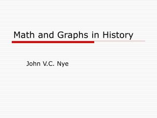 Math and Graphs in History