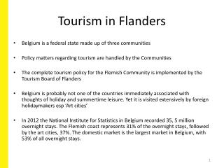 Tourism in Flanders