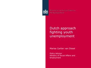 Dutch approach  fighting youth unemployment