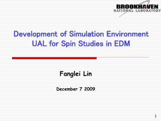 Development of Simulation Environment UAL for Spin Studies in EDM