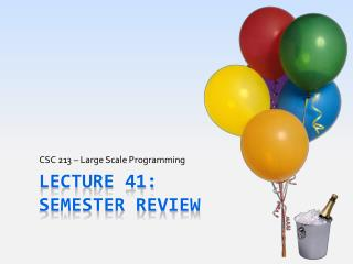 Lecture 41: Semester Review