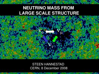 NEUTRINO MASS FROM  LARGE SCALE STRUCTURE