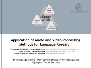 Application of Audio and Video Processing Methods for Language Research
