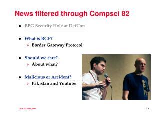 News filtered through Compsci 82