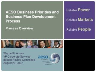 AESO Business Priorities and Business Plan Development Process