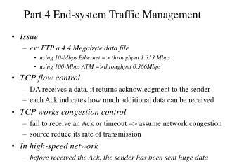 Part 4 End-system Traffic Management