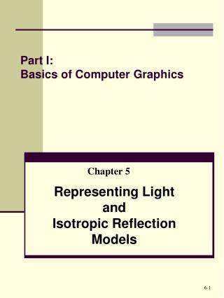 Part I: Basics of Computer Graphics