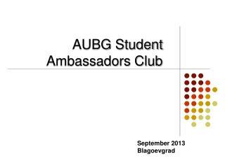 AUBG Student Ambassadors Club