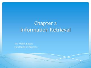 Chapter 2 Information Retrieval