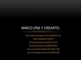 MARCO (PAE y crearte)