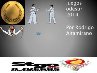 Juegos  odesur  2014 Por  Rodrigo Altamirano