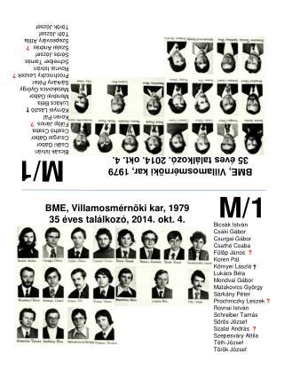 BME, Villamosmérnöki kar, 1979 35 éves találkozó, 2014. okt. 4.