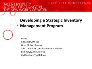 Developing a Strategic Inventory Management Program