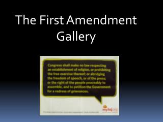 The First Amendment Gallery