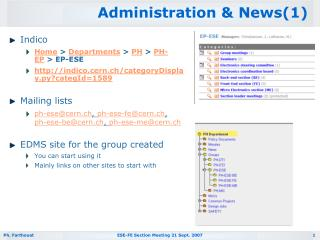 Administration & News(1)