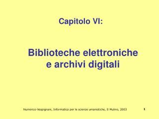 Capitolo VI: