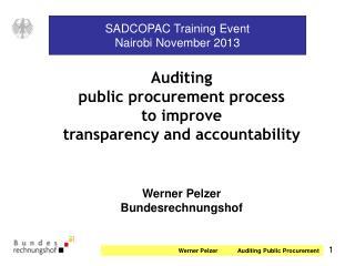 SADCOPAC Training Event Nairobi November 2013