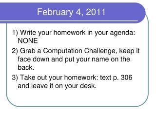 February 4, 2011