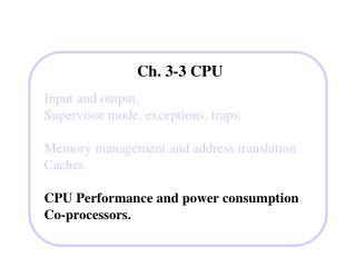 Ch. 3-3 CPU
