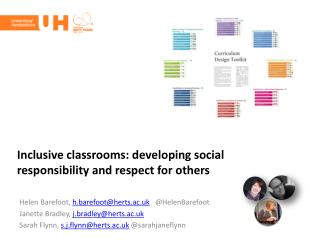 Inclusive classrooms: developing social responsibility and respect for others