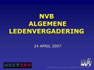 NVB  ALGEMENE LEDENVERGADERING