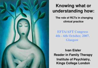 Knowing what or understanding how: The role of RCTs in changing clinical practice