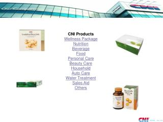 CNI Products Wellness Package Nutrition Beverage Food Personal Care Beauty Care Household