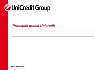 Principali prassi Unicredit
