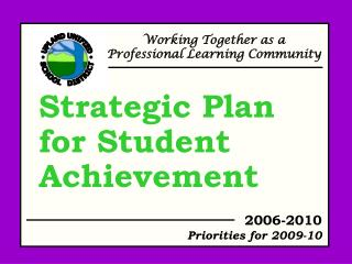 Strategic Plan for Student Achievement